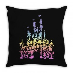 castle characters pastel Throw Pillow | Artistshot