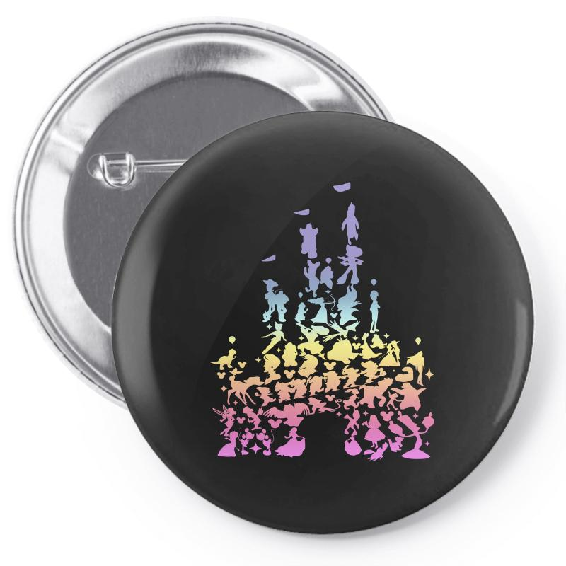 Castle Characters Pastel Pin-back Button | Artistshot