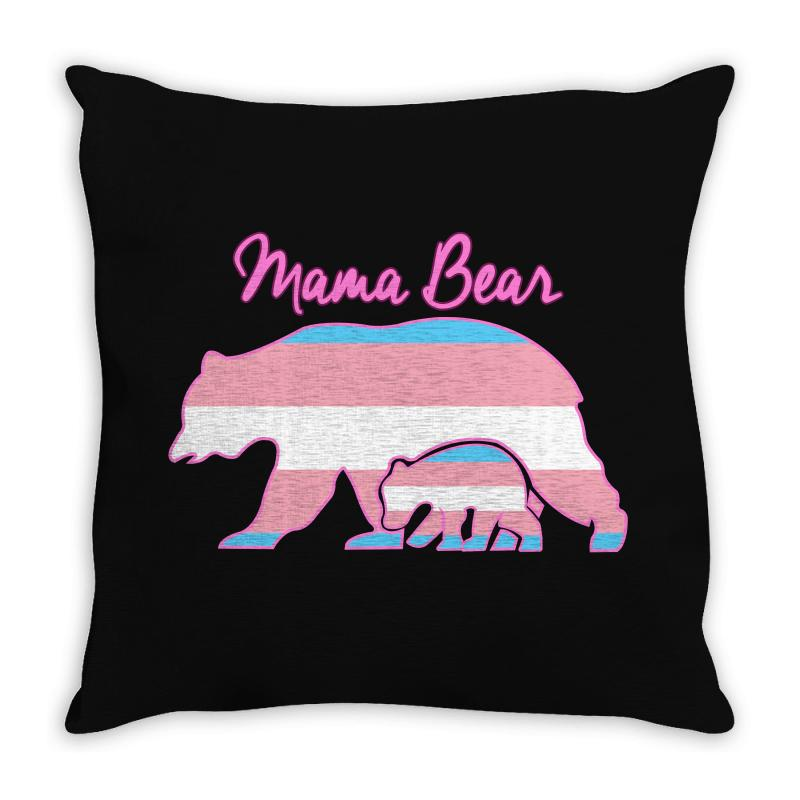Mama Bear Leopard Trans Throw Pillow | Artistshot
