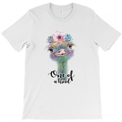 One Of A Kind Ostrich For Light T-shirt Designed By Sengul