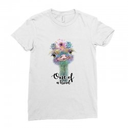 one of a kind ostrich for light Ladies Fitted T-Shirt | Artistshot