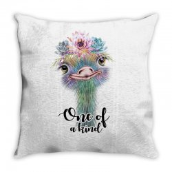one of a kind ostrich for light Throw Pillow | Artistshot