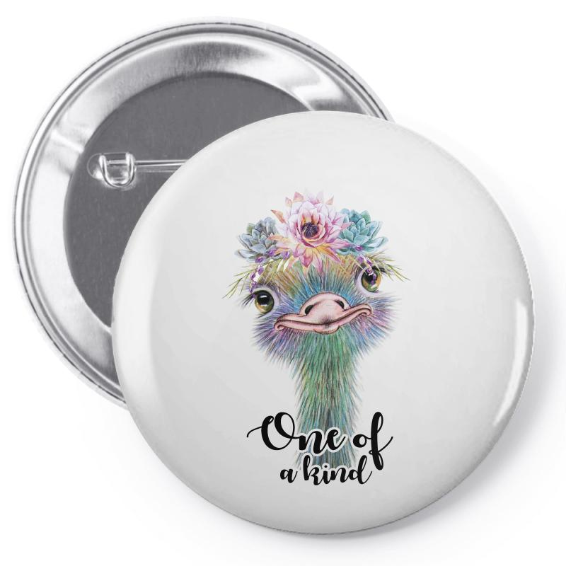 One Of A Kind Ostrich For Light Pin-back Button | Artistshot