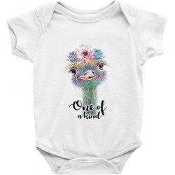 one of a kind ostrich for light Baby Bodysuit | Artistshot