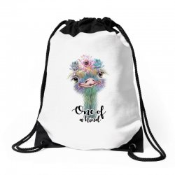 one of a kind ostrich for light Drawstring Bags | Artistshot