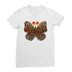 leopard butterfly Ladies Fitted T-Shirt | Artistshot