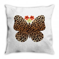 leopard butterfly Throw Pillow | Artistshot