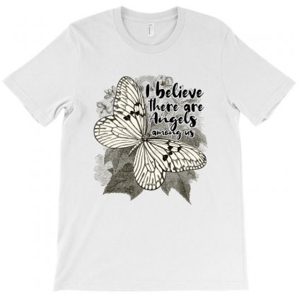 I Believe There Are Angels Among Us T-shirt Designed By Sengul