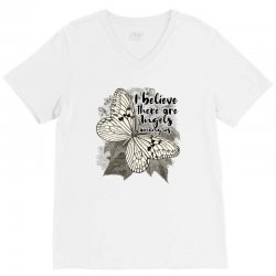 i believe there are angels among us V-Neck Tee | Artistshot