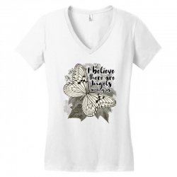 i believe there are angels among us Women's V-Neck T-Shirt | Artistshot