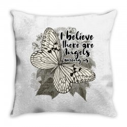 i believe there are angels among us Throw Pillow | Artistshot