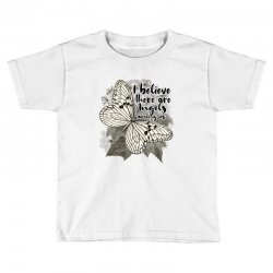i believe there are angels among us Toddler T-shirt | Artistshot