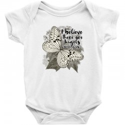 i believe there are angels among us Baby Bodysuit | Artistshot