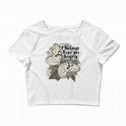 i believe there are angels among us Crop Top | Artistshot