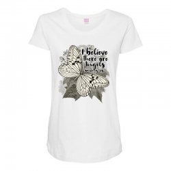 i believe there are angels among us Maternity Scoop Neck T-shirt | Artistshot