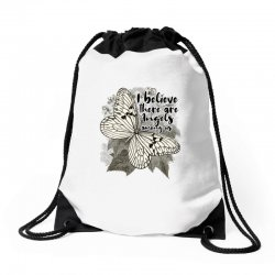 i believe there are angels among us Drawstring Bags | Artistshot