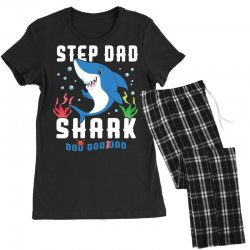 step dad shark family matching Women's Pajamas Set | Artistshot