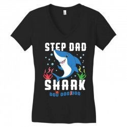 step dad shark family matching Women's V-Neck T-Shirt | Artistshot