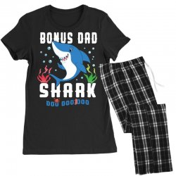 bonus dad shark family matching Women's Pajamas Set | Artistshot