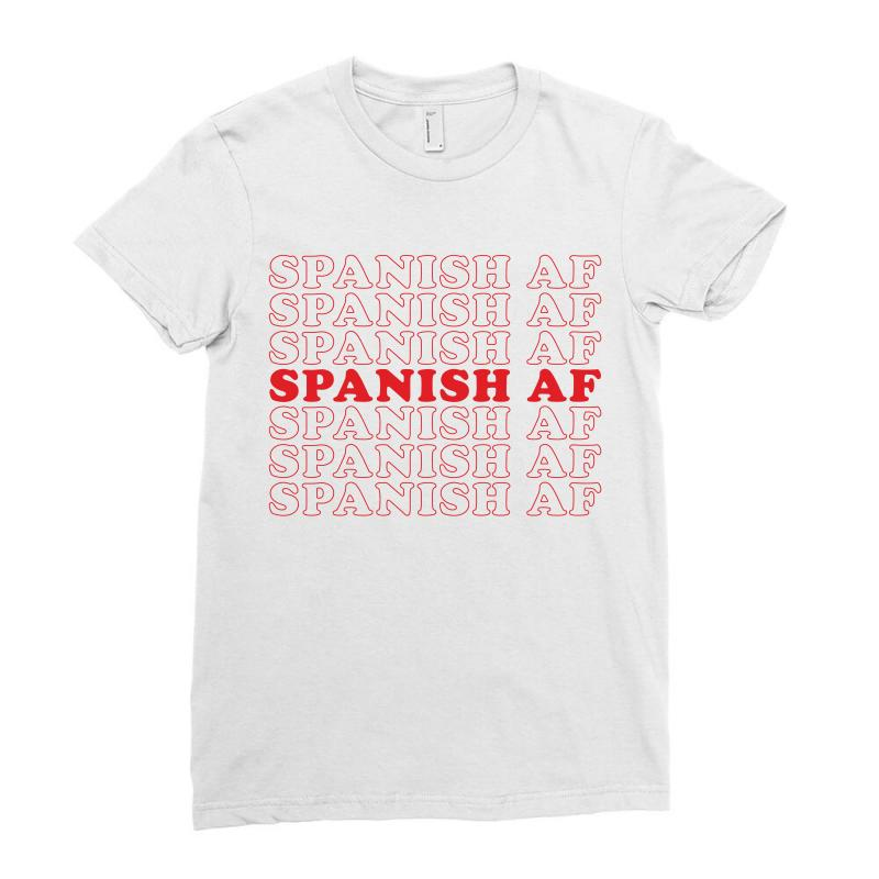 Spanish  Af Ladies Fitted T-shirt | Artistshot