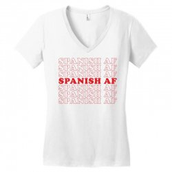 spanish  af Women's V-Neck T-Shirt | Artistshot