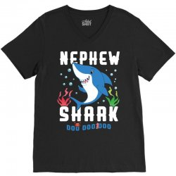 nephew shark family matching V-Neck Tee | Artistshot