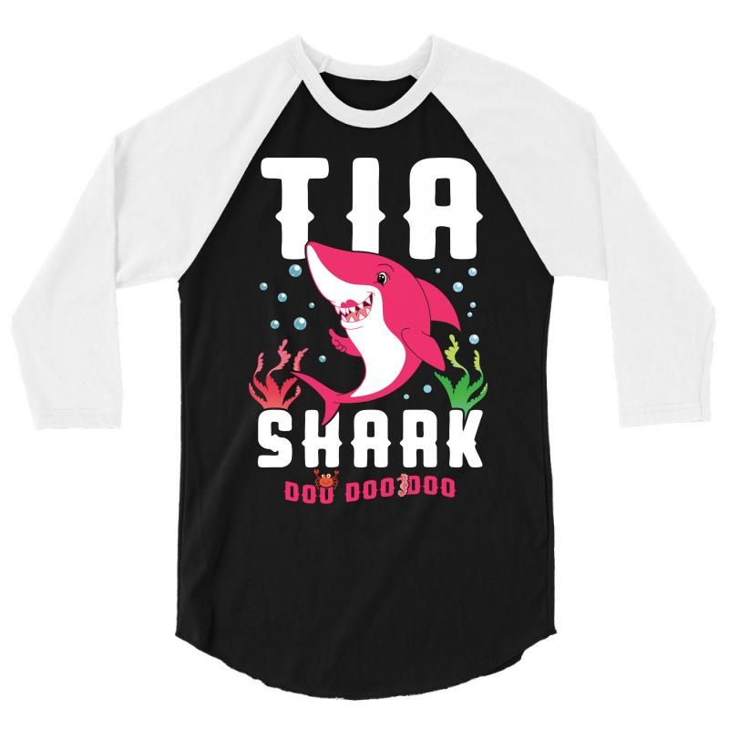Tia Shark Family Matching 3/4 Sleeve Shirt | Artistshot