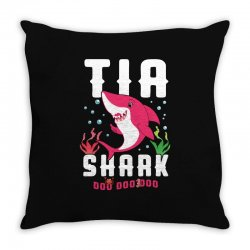 tia shark family matching Throw Pillow | Artistshot
