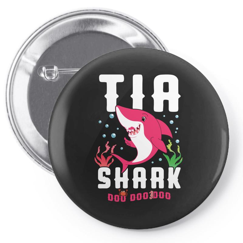 Tia Shark Family Matching Pin-back Button | Artistshot