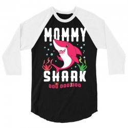 mommy shark family matching 3/4 Sleeve Shirt | Artistshot
