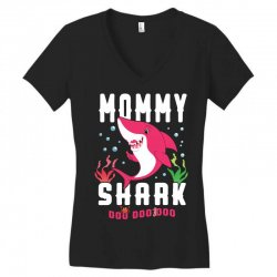 mommy shark family matching Women's V-Neck T-Shirt | Artistshot