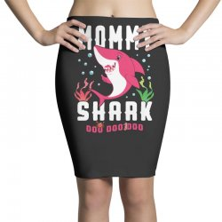 mommy shark family matching Pencil Skirts | Artistshot