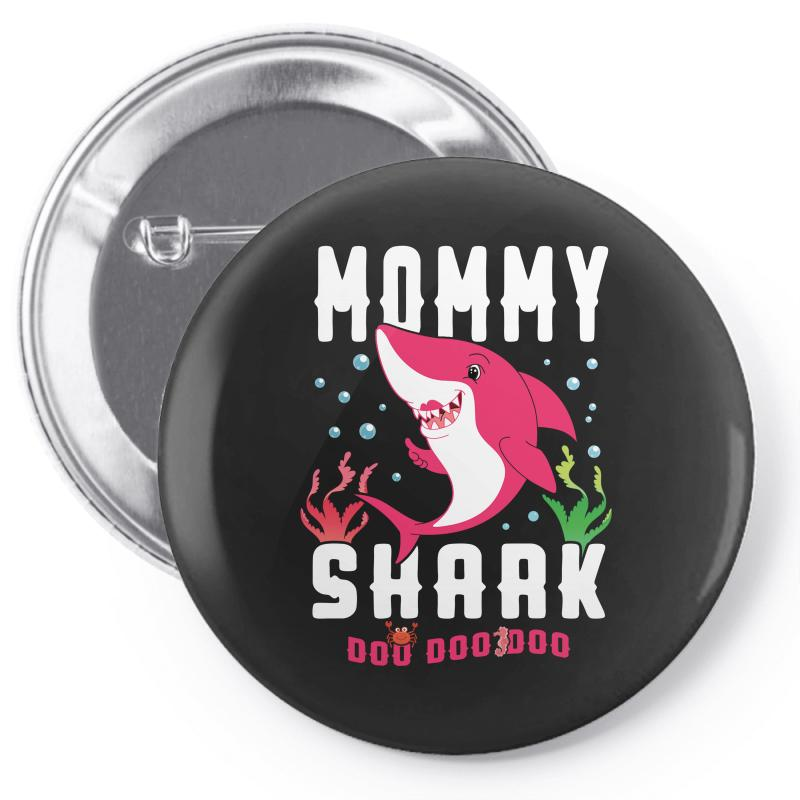 Mommy Shark Family Matching Pin-back Button | Artistshot