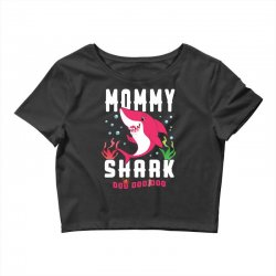 mommy shark family matching Crop Top | Artistshot