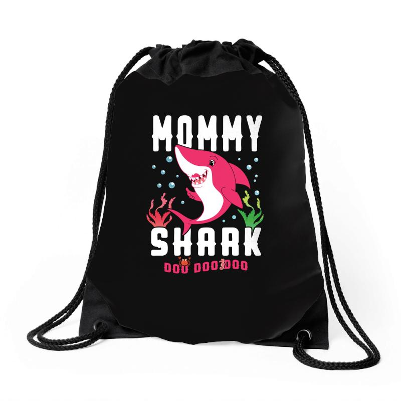 Mommy Shark Family Matching Drawstring Bags | Artistshot