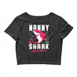 nanny shark family matching Crop Top | Artistshot