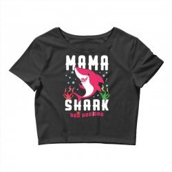 mama shark family matching Crop Top | Artistshot