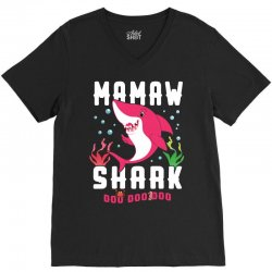 mamaw shark family matching V-Neck Tee | Artistshot