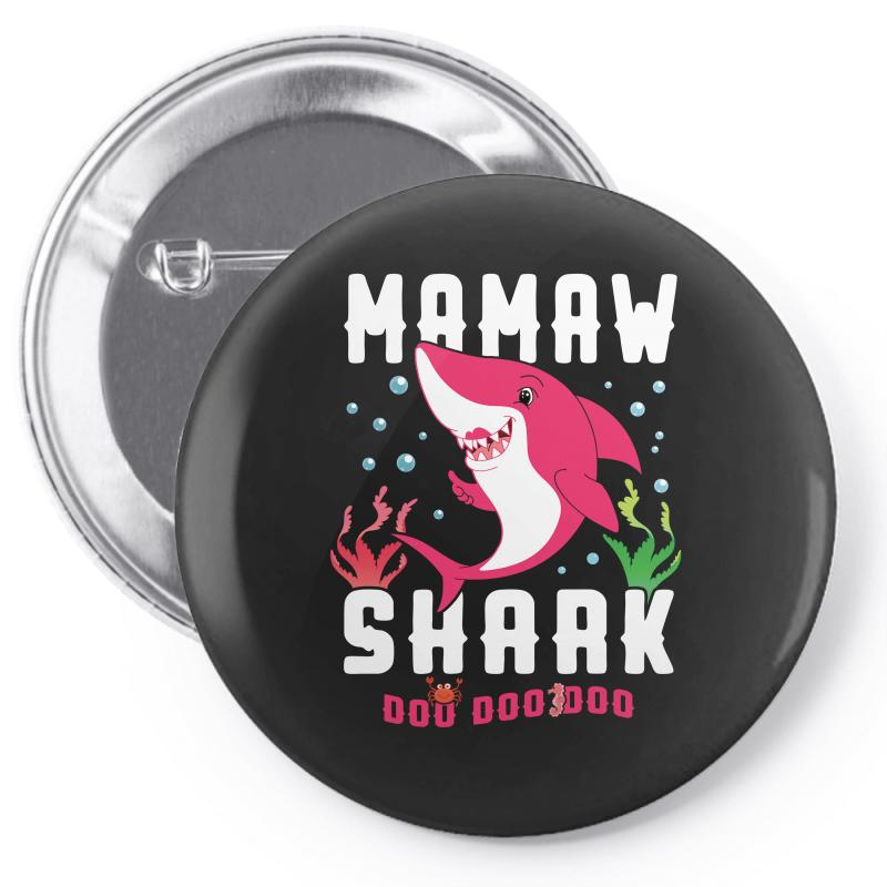 Mamaw Shark Family Matching Pin-back Button | Artistshot