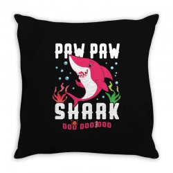 paw paw shark family matching Throw Pillow | Artistshot