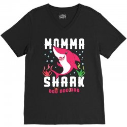 momma shark family matching V-Neck Tee | Artistshot