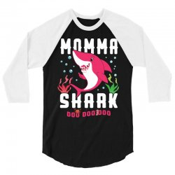 momma shark family matching 3/4 Sleeve Shirt | Artistshot