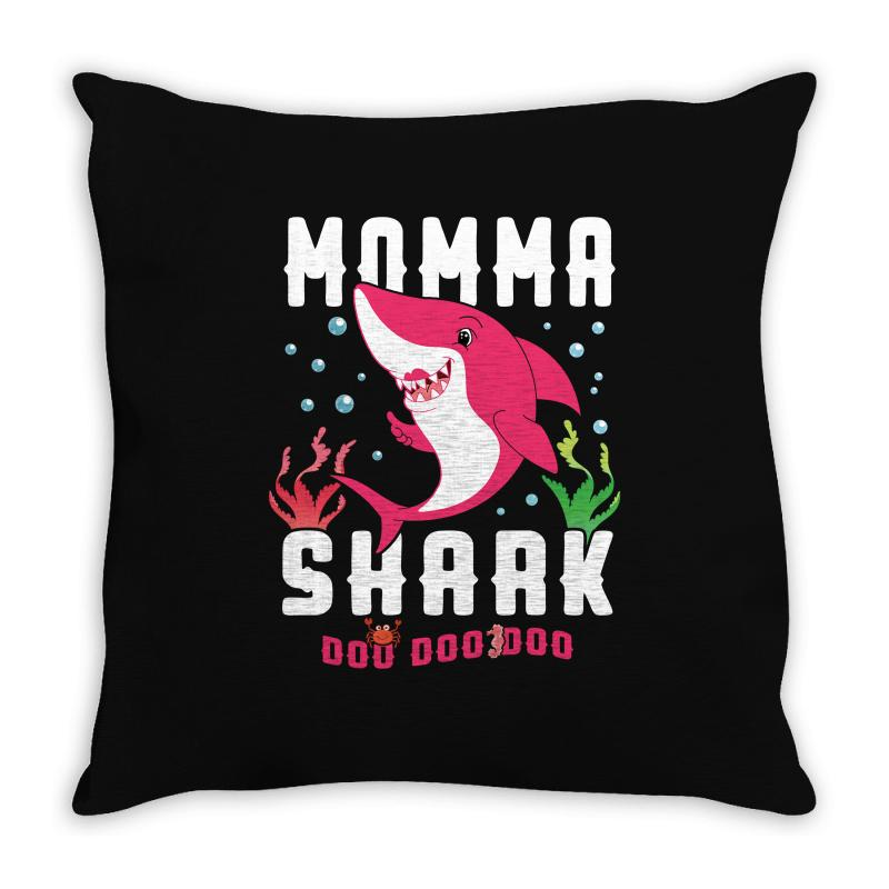 Momma Shark Family Matching Throw Pillow | Artistshot