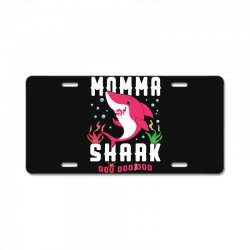 momma shark family matching License Plate | Artistshot