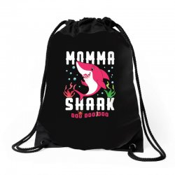 momma shark family matching Drawstring Bags | Artistshot