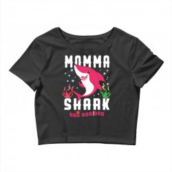 momma shark family matching Crop Top | Artistshot