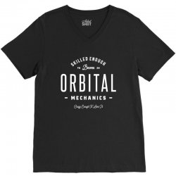 Orbital Mechanics V-Neck Tee | Artistshot