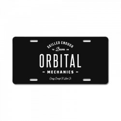 Orbital Mechanics License Plate | Artistshot