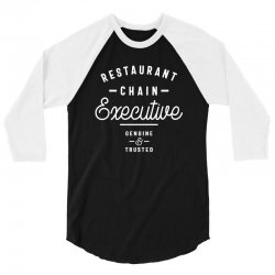 Restaurant Chain Executive 3/4 Sleeve Shirt | Artistshot