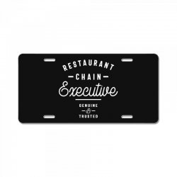 Restaurant Chain Executive License Plate | Artistshot